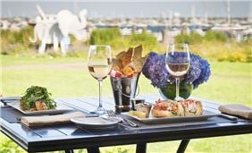 Brant Point Grill's Terrace Seating With Lobster Rolls