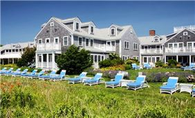 Chaise Lounges Line the Harborside Lawn